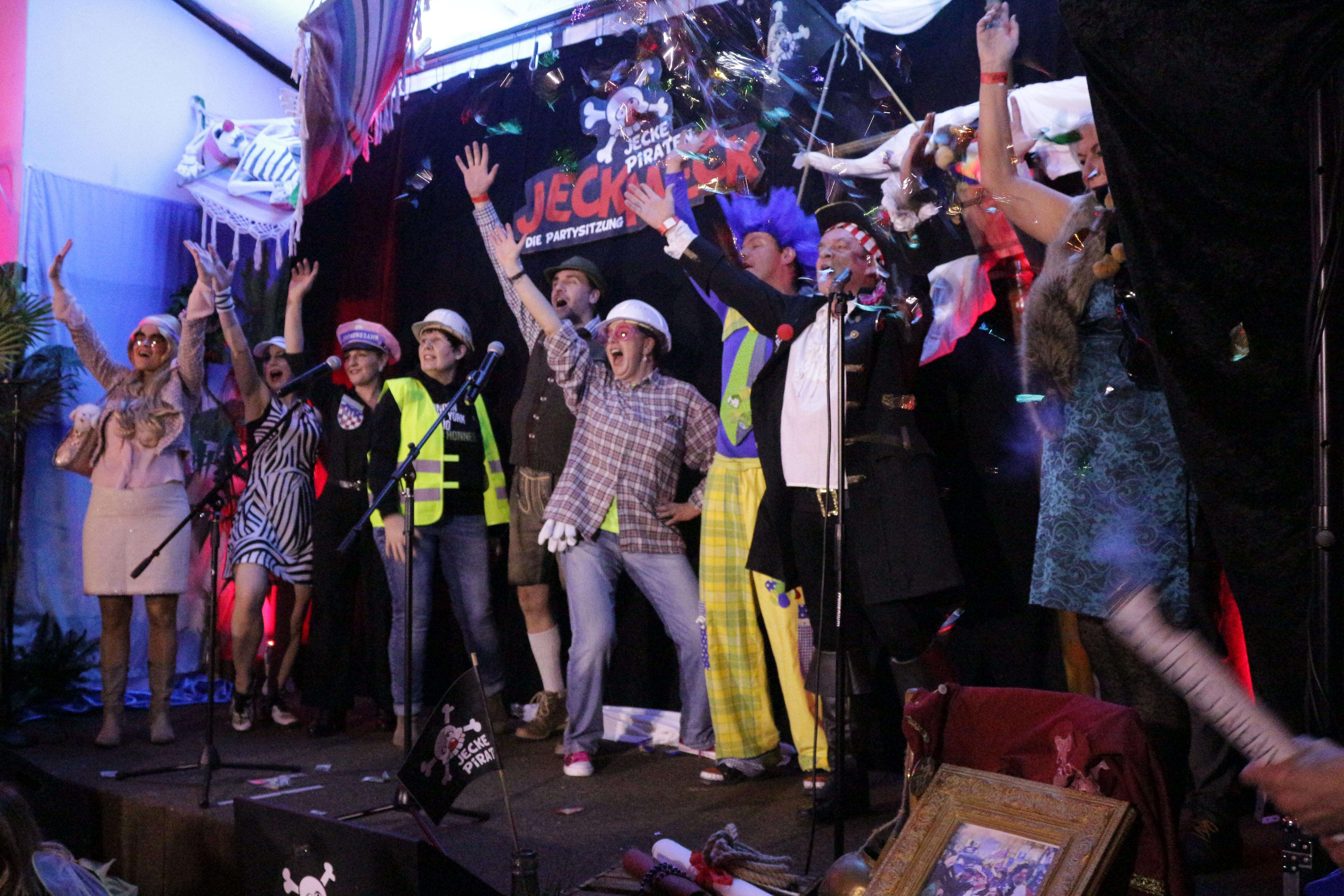 """Jecke Piraten feierten """"Jeckmeck – Die Partysitzung"""""""